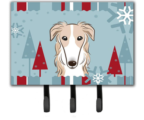 Buy this Winter Holiday Borzoi Leash or Key Holder BB1724TH68