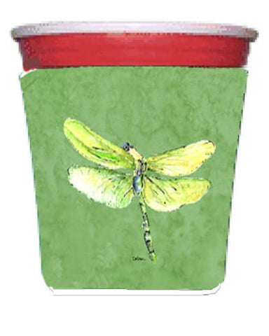 Buy this Dragonfly on Avacado Red Solo Cup Beverage Insulator Hugger