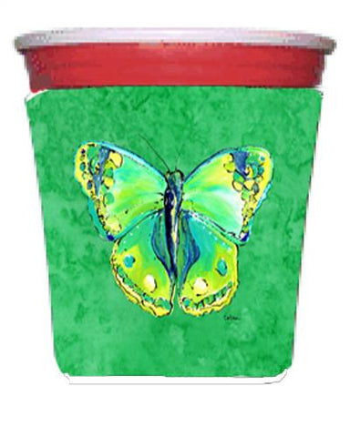 Buy this Butterfly Green on Green Red Solo Cup Beverage Insulator Hugger