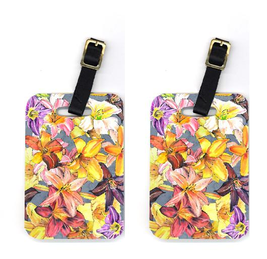 Pair of Day Lillies Luggage Tags by Caroline's Treasures
