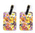 Buy this Pair of Day Lillies Luggage Tags