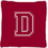 Monogram Initial D Maroon and White Decorative   Canvas Fabric Pillow CJ1032 - the-store.com