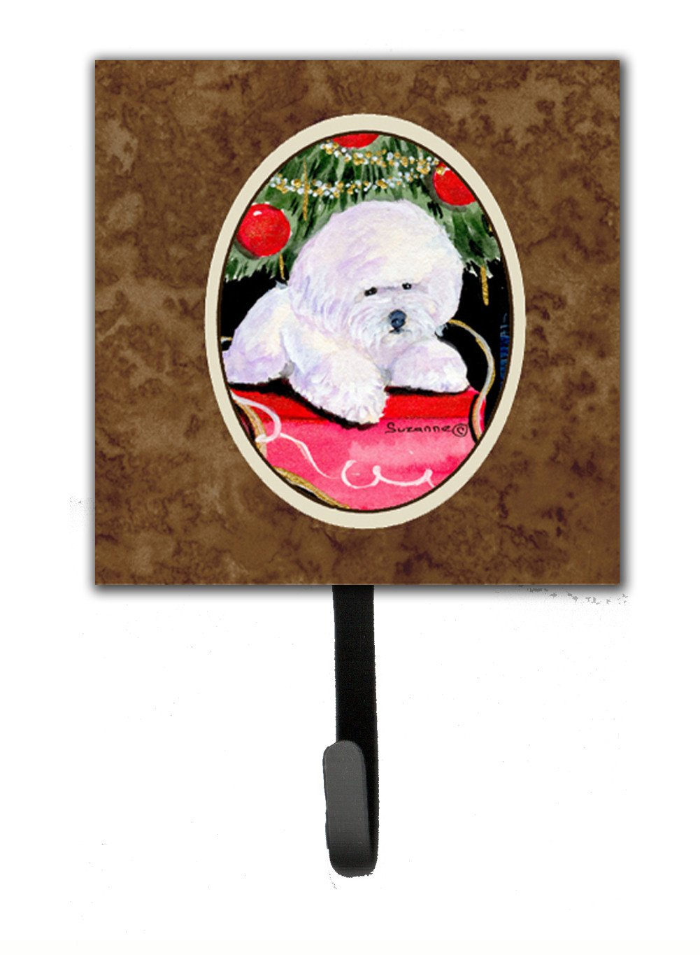 Christmas Tree with  Bichon Frise Leash Holder or Key Hook by Caroline's Treasures