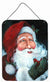 A Little Bird Told Me Santa Claus Wall or Door Hanging Prints PJC1001DS1216 by Caroline's Treasures