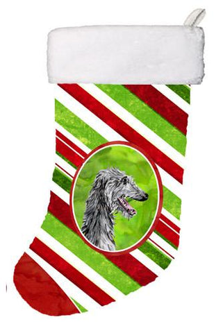 Buy this Scottish Deerhound Candy Cane Christmas Christmas Stocking SC9813-CS