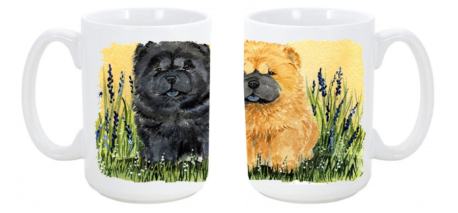 Buy this Chow Chow Dishwasher Safe Microwavable Ceramic Coffee Mug 15 ounce SS7006CM15