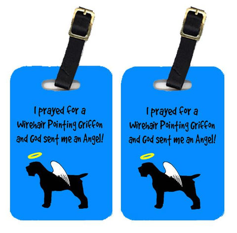 Buy this Pair of 2 Wirehair Pointing Griffon Luggage Tags
