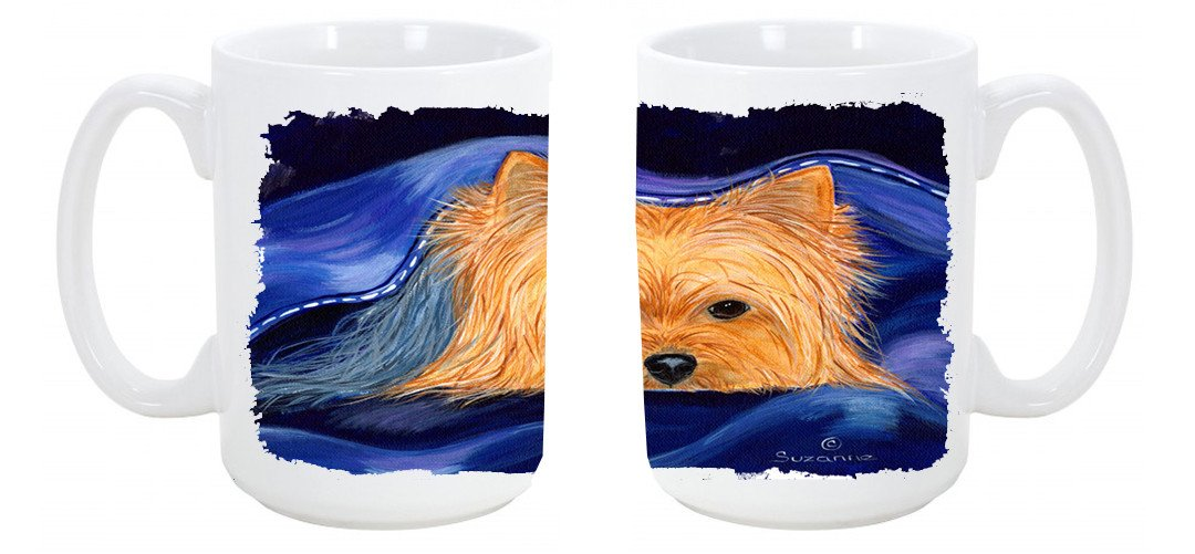 Buy this Yorkie Dishwasher Safe Microwavable Ceramic Coffee Mug 15 ounce SS8136CM15
