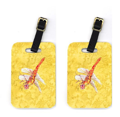 Buy this Pair of Dragonfly on Yellow Luggage Tags
