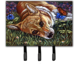 Buy this Corgi Pastel Butterfly Leash or Key Holder 7325TH68