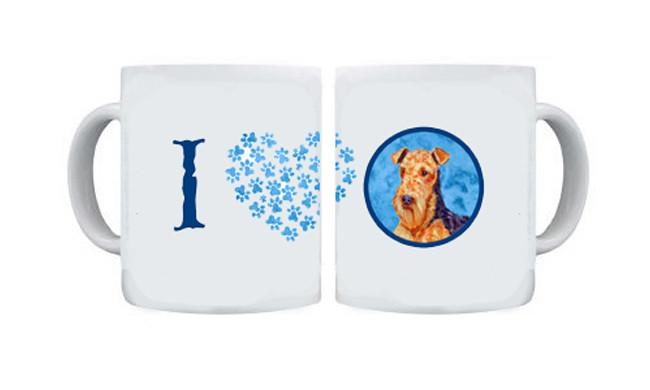 Airedale  Dishwasher Safe Microwavable Ceramic Coffee Mug 15 ounce by Caroline's Treasures