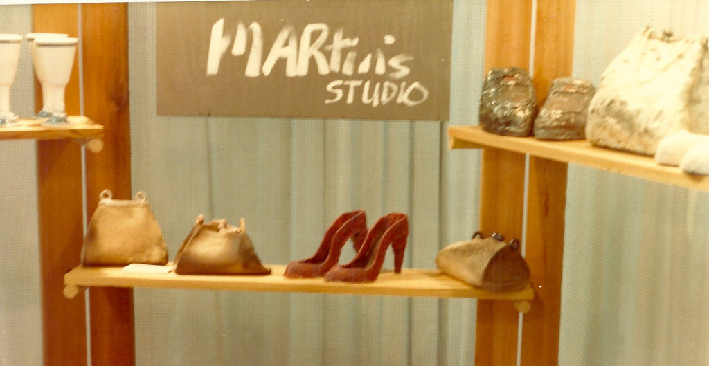 This is what I took to our very first One of a Kind Show. Ceramic shoes and purses.