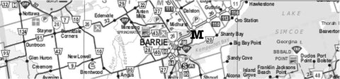 Map of Barrie