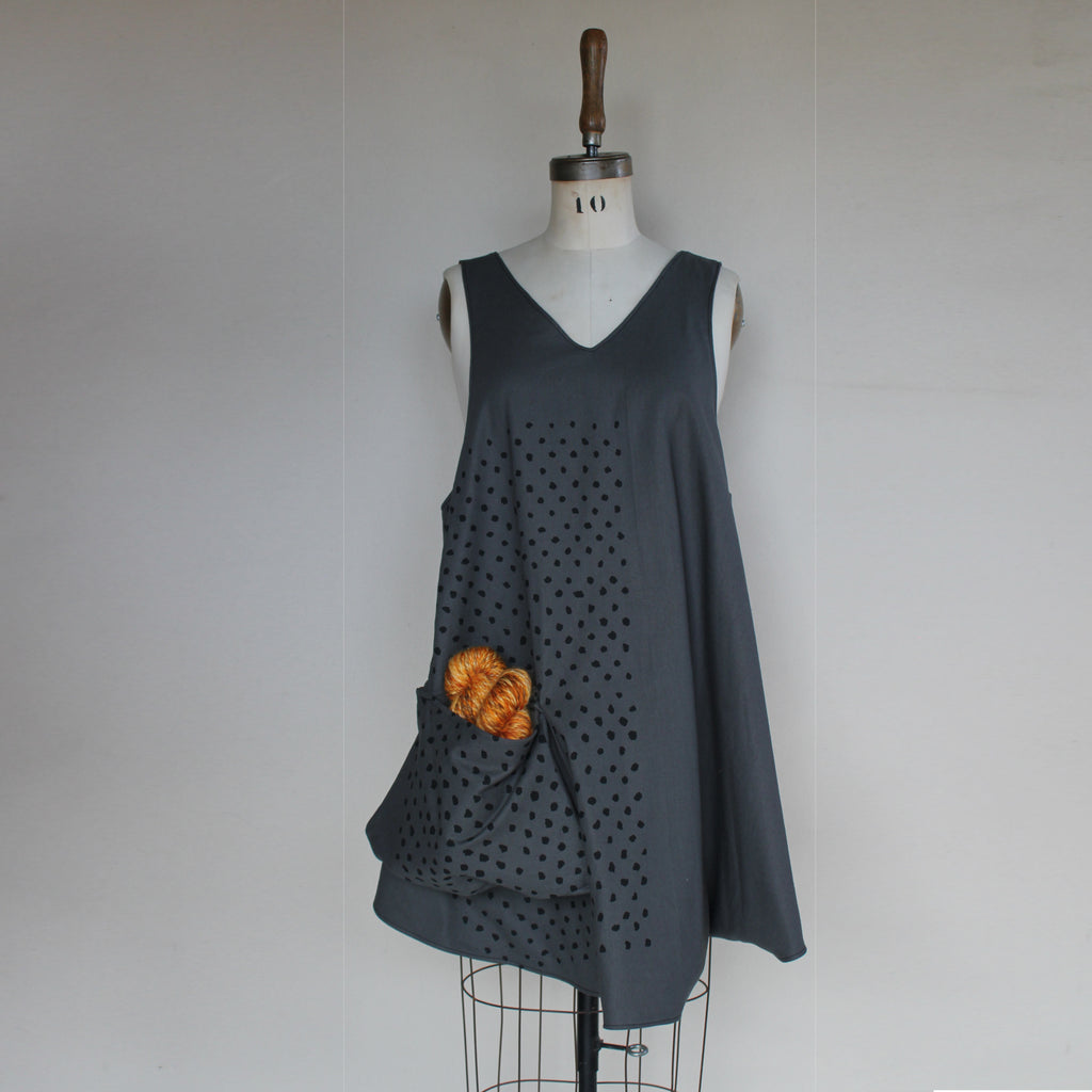 Knitter's Apron with Dots