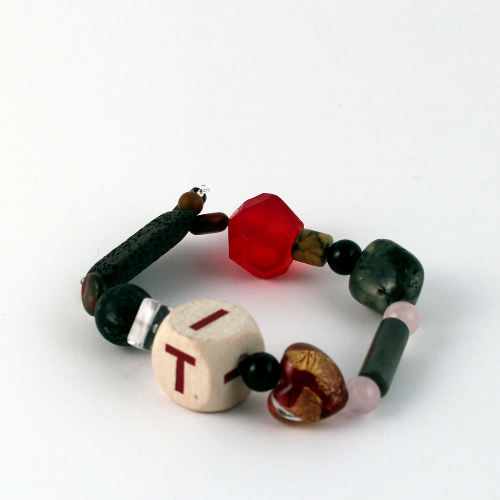Eclectic mix of beads bracelet