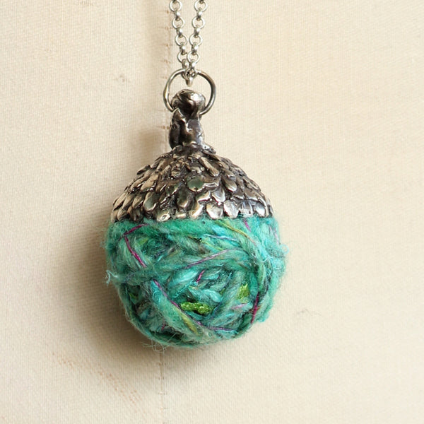 Acorn Necklace #5/ Turquoise