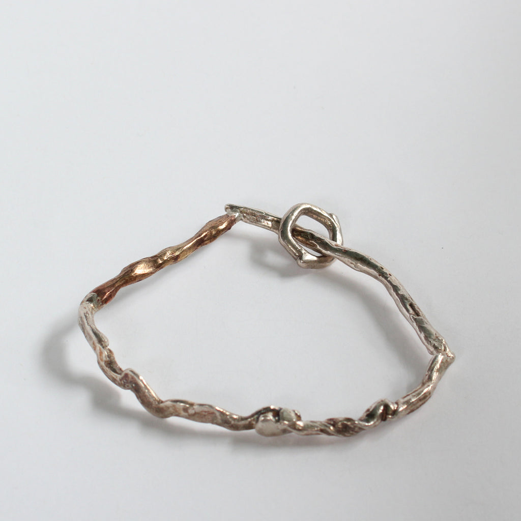 Sterling Silver and Bronze Bangle #3