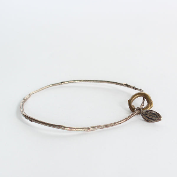 Sterling Silver and Bronze Bangle #9
