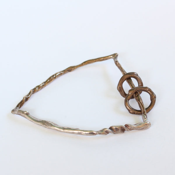 Sterling Silver and Bronze Bangle #8