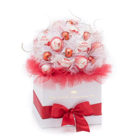 Chocolate Deluxe: Raffaelo & Lindt Chocolate Gift Basket