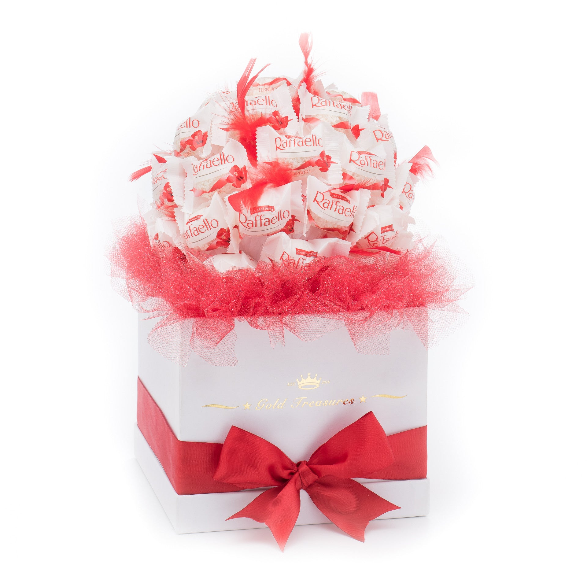 Sweet Temptation: 40 Raffaello Chocolates Bouquet