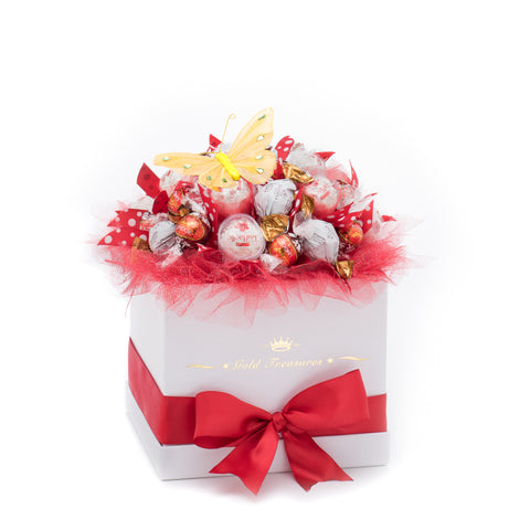 Chocolate Paradise: Raffaello, Lindt & Godiva Chocolate Arrangement