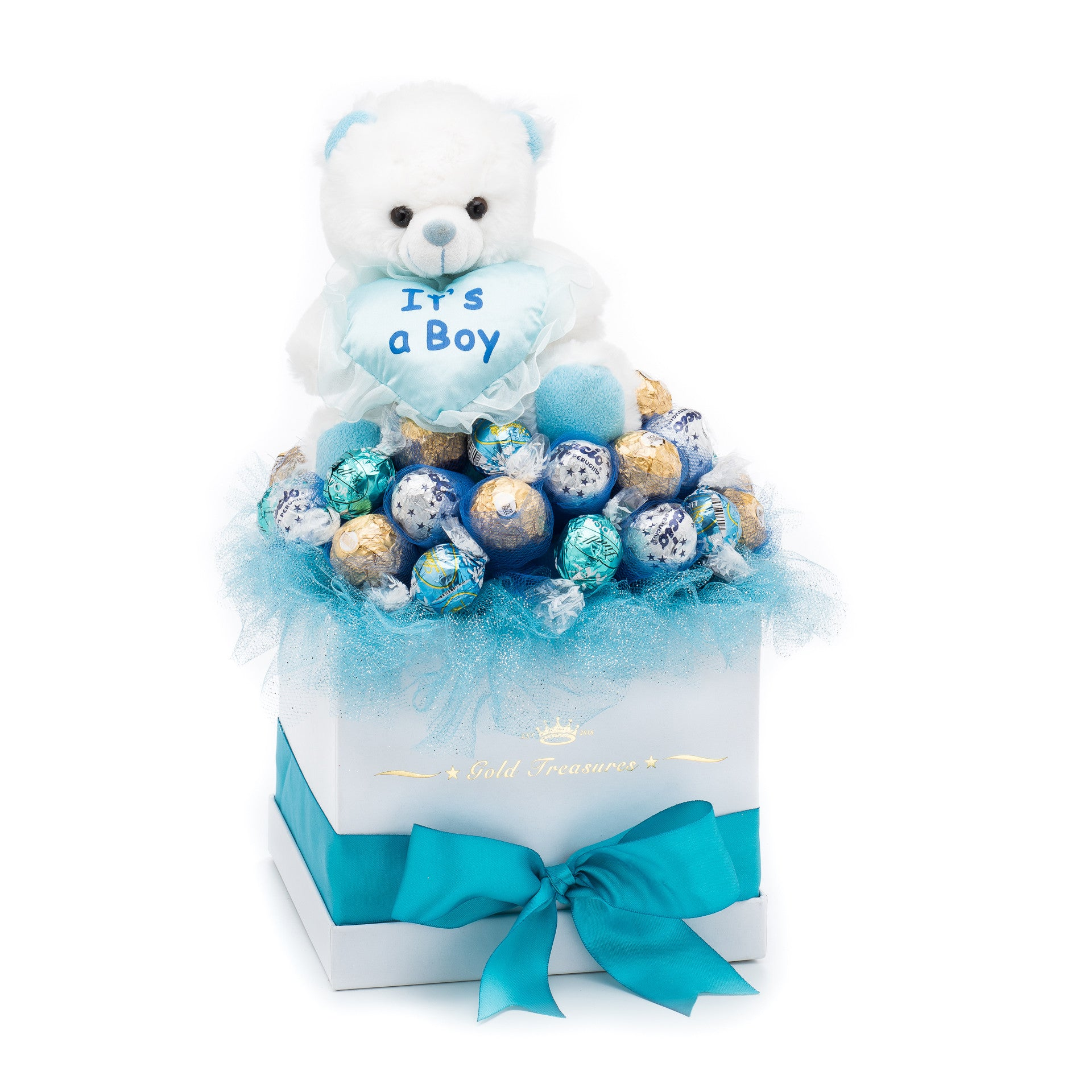 It's A Boy Chocolate Gift Basket For Newborn Baby
