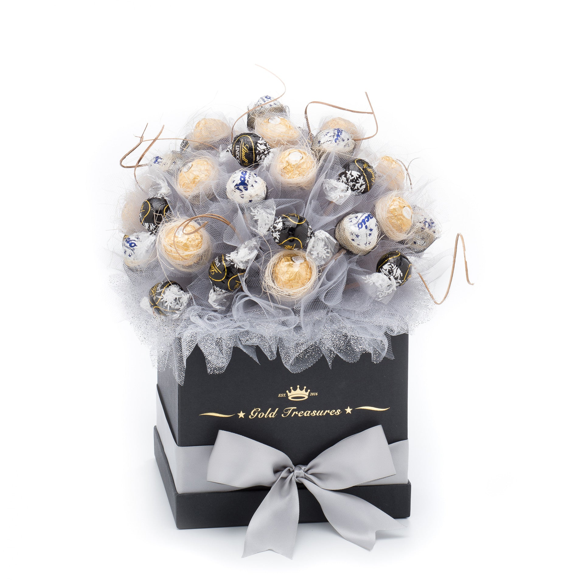 Chocolate Moon: Raffaelo, Baci Perugina & Dark Lindor Chocolate Basket