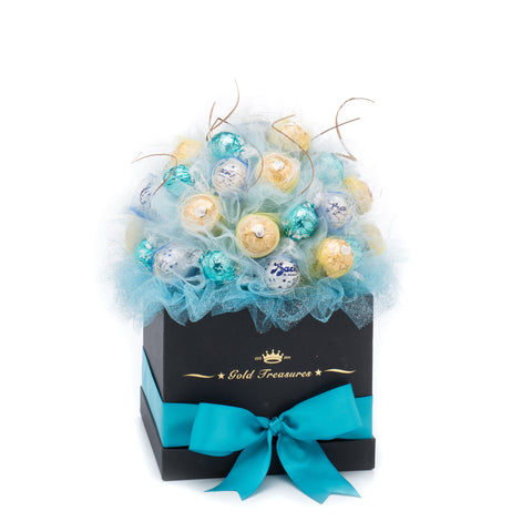 Sugar Blue: Chocolate Bouquet with Ferrero, Lindt & Bacio Perugina