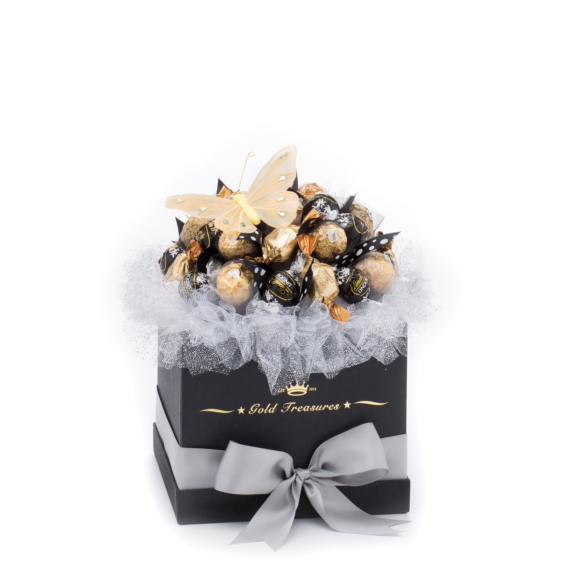 Sweet Moonlight: Chocolate Arrangement with Ferrero, Godiva & Lindt