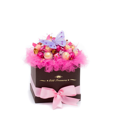 Shocking Pink: Chocolate Gift Basket with Godiva, Lindt & Ferrero
