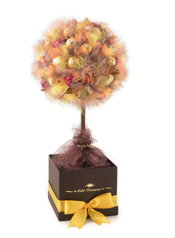 Shades Of Autumn: Chocolate Gift Tree with Lindt, Godiva & Ferrero