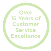 Over 15 Years of Customer Service Excellence