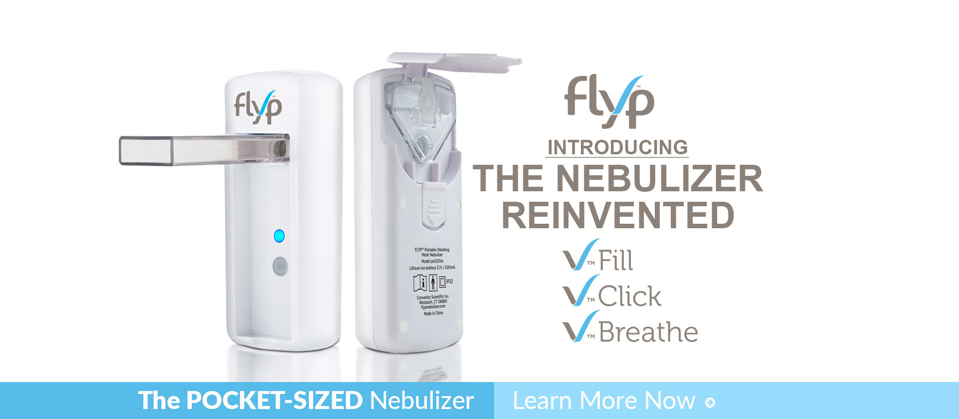Buy Flyp Nebulizer. Pocket-Sized, rechargeable nebulizer