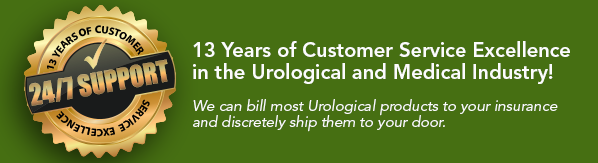 13 Years of Customer Service Excellence in the Urological and Medical Industry! We can bill most Urological products to your insurance and discretely ship them to your door.