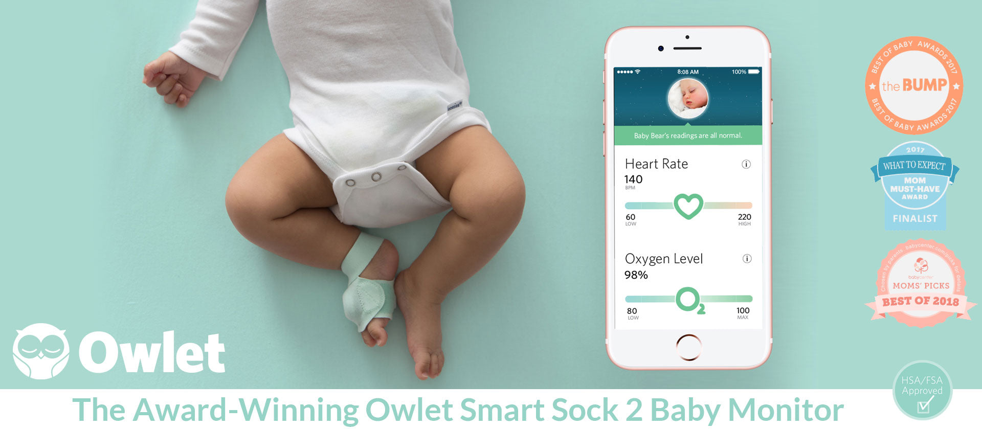 Buy the Owlet Smart Sock 2 Baby Monitor Now