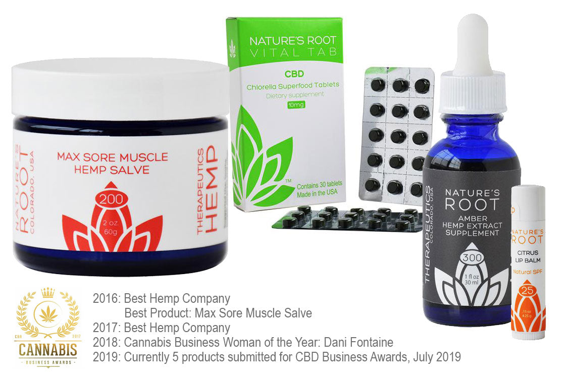 nature's root CBD product line