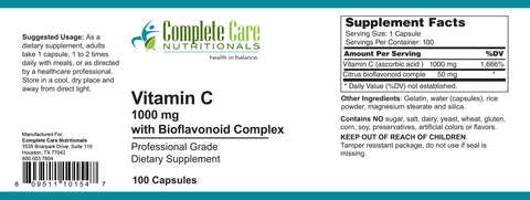 Vitamin C 1000 mg with Bioflavonoid Complex