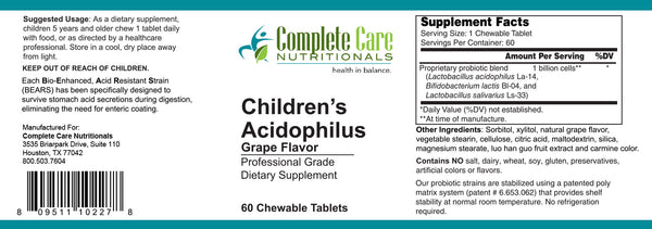 Children's Acidophilus / Grape Flavor