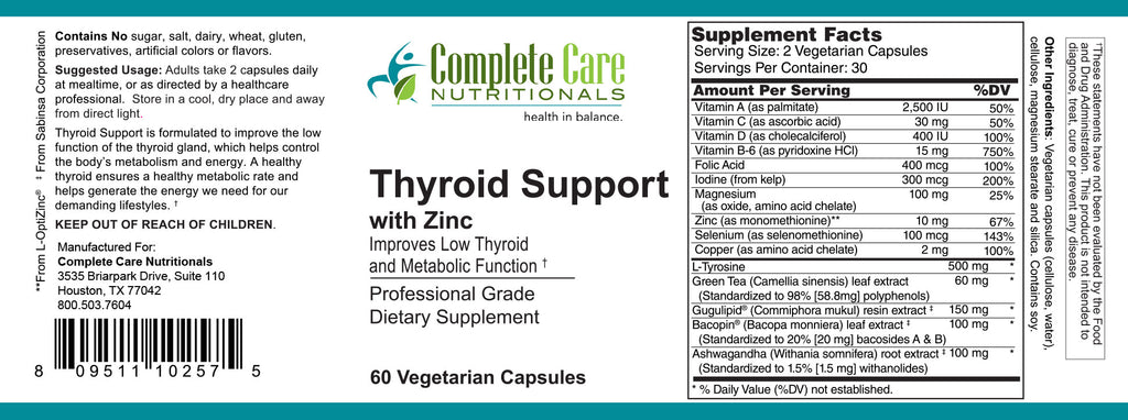 Thyroid Support with Zinc