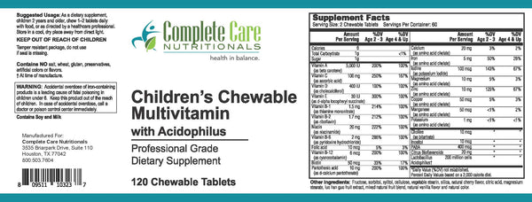 Children's Chewable Multivitamin with Acidophilus