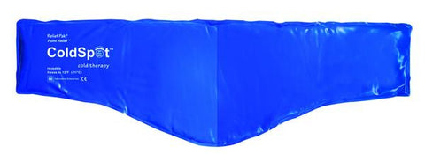 "Relief Pak® ColdSpot™ Blue Vinyl Pack - neck contour - 6"" x 23"""