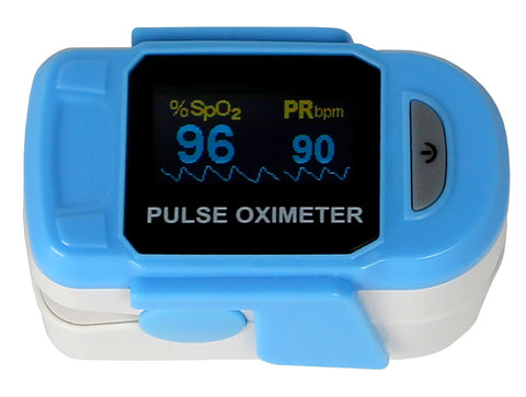 Image of Baseline® Fingertip Pulse Oximeter, Deluxe (2 AAA batteries included)