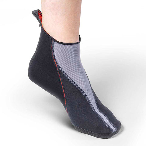 Image of Thermoskin Circulation Thermo Slippers pair black color side view