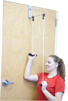 Image of CanDo® Overdoor Shoulder Pulley - Double Pulley with Door Bracket