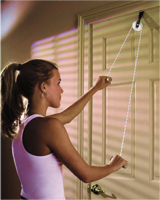 CanDo® Overdoor Shoulder Pulley - Single Pulley with Door Strap