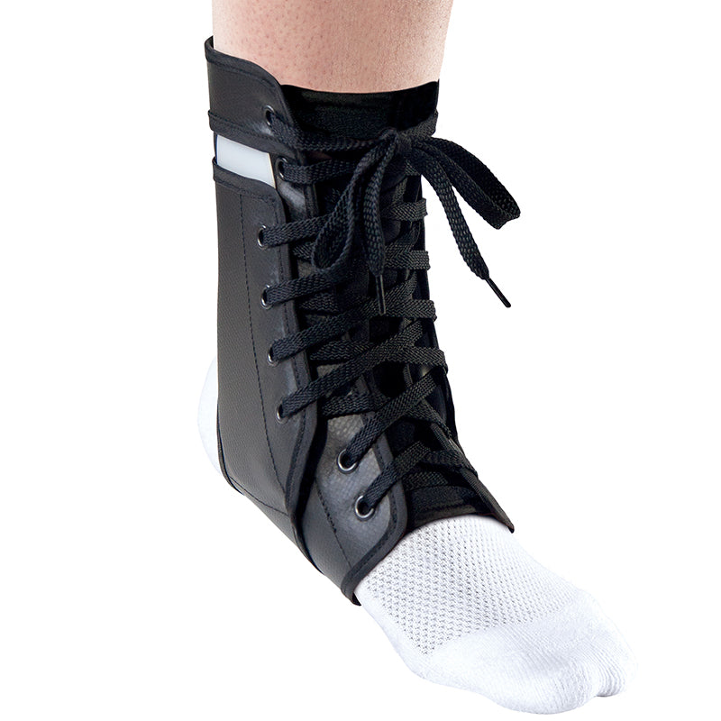 Thermoskin armour ankle brace lace up black