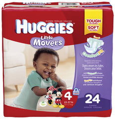Huggies Little Movers Diapers, Jumbo by Kimberly-Clark