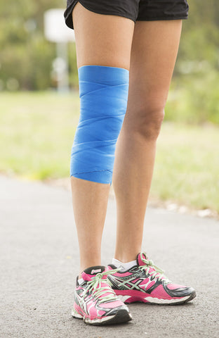 womans leg with coolxchange compression wrap