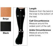 Image of CURAD® Knee-High Compression Hosiery 15-20 mmHG